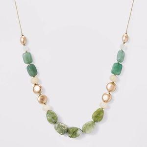 Green Aventurine Beaded Cord Necklace